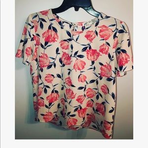 Floral work blouse.